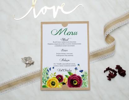 menu na wesele w stylu boho